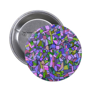 Purple Mosaic Abstract Button