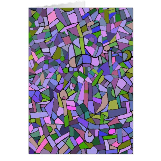 Purple Mosaic Abstract Card