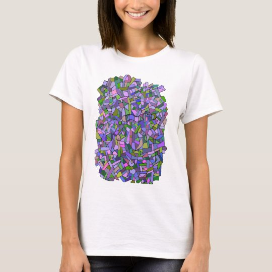 Purple Mosaic Abstract T-Shirt