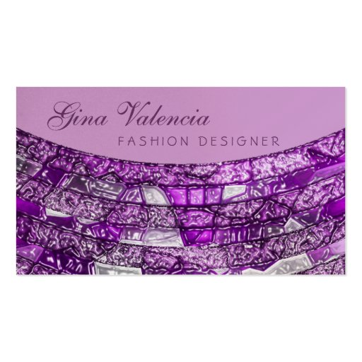 Purple Mosaic Bling Sophisticated Business Cards : Zazzle