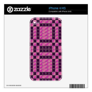 Purple Mosaic Tile Look iPhone 4 Decal