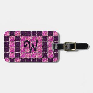 Purple Mosaic Tile Look Luggage Tag