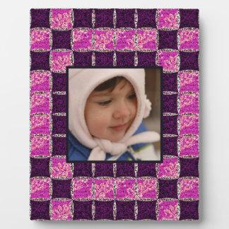 Purple Mosaic Tile Look Plaque