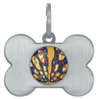 Purple Moth (bug expressionism) Pet Tag
