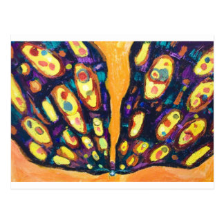 Purple Moth (bug expressionism) Postcard