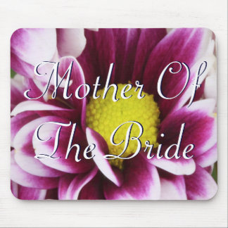 Purple Mother Of The Bride Bouquet Mouse Pad