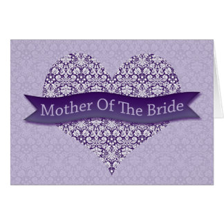 Purple Mother of the Bride Cards