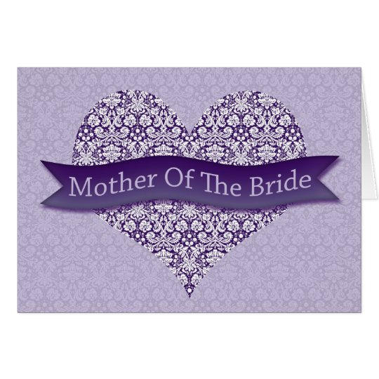 Purple Mother of the Bride Card