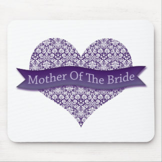 Purple Mother of the Bride Mouse Pad