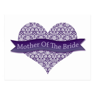 Purple Mother of the Bride Postcard