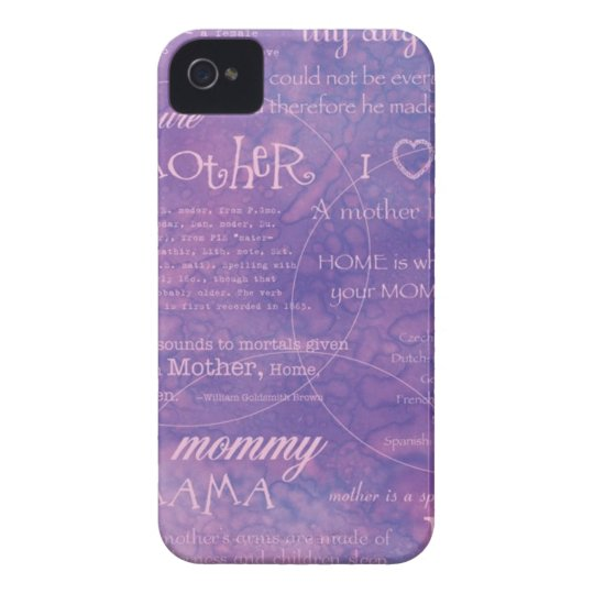 purple mothers day iPhone 4 Case-Mate case