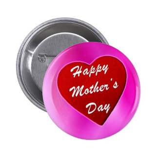 Purple Mother's Day Pinback Button