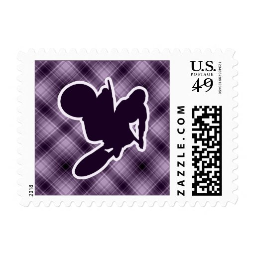 Purple Motocross Whip Postage Stamps