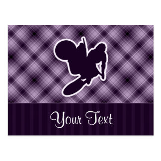 Purple Motocross Whip Postcard