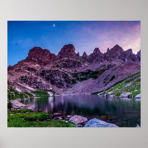 Purple Mountain Lake // Sunset Moon