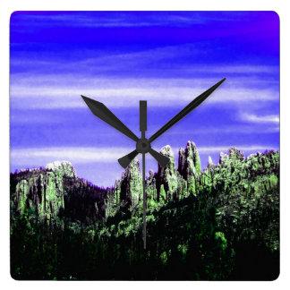 Purple Mountain Majesty clock