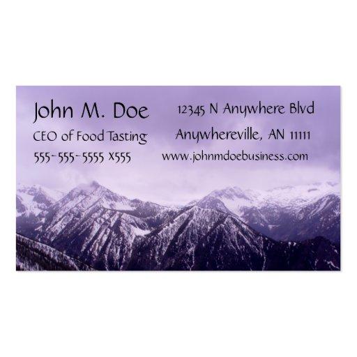 Purple Mountain Majesty Monogram Business Card