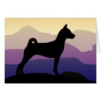 Purple Mountains Basenji Card