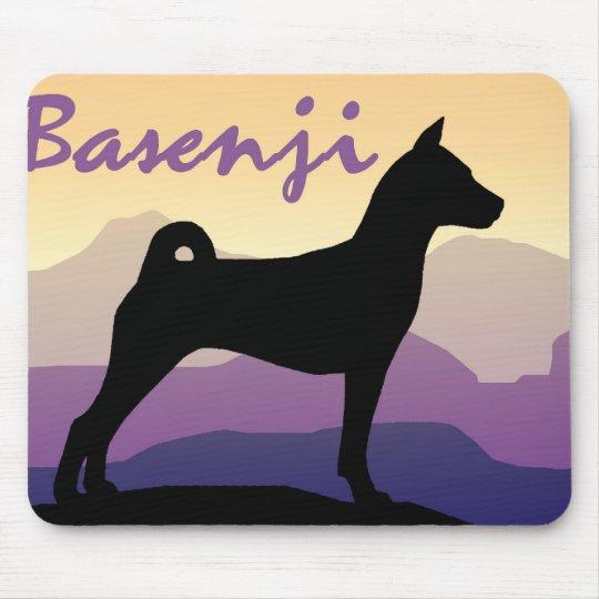 Purple Mountains Basenji Mouse Pad