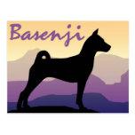 Purple Mountains Basenji Post Cards