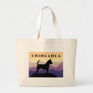 Purple Mountains Chihuahua Canvas Bags