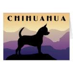 Purple Mountains Chihuahua Greeting Card