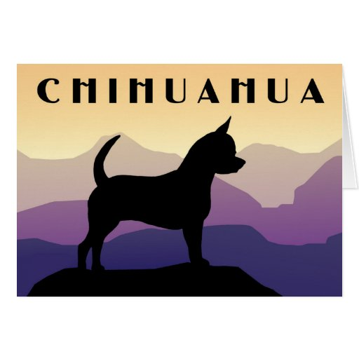 Purple Mountains Chihuahua Greeting Card