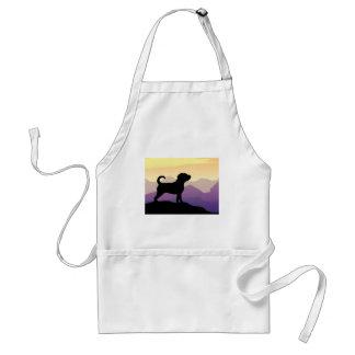 Purple Mountains Puggle Dog Aprons