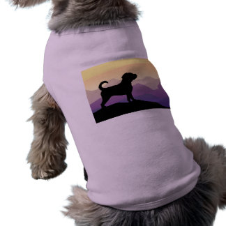 Purple Mountains Puggle Dog Pet Tee