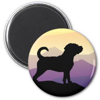 Purple Mountains Puggle Dog Magnet
