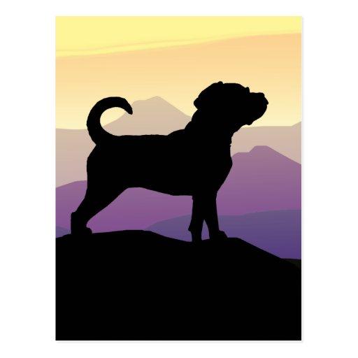 Purple Mountains Puggle Dog Postcard