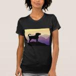 Purple Mountains Puggle Dog T-shirt