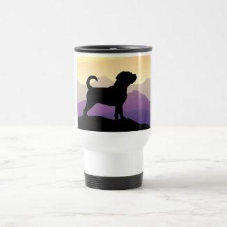 Purple Mountains Puggle Dog Travel Mug