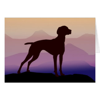 Purple Mountains Vizsla Greeting Card