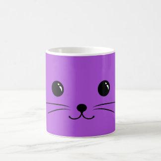 Purple Mouse Cute Animal Face Design Coffee Mug