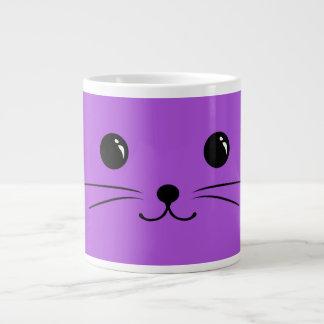 Purple Mouse Cute Animal Face Design Large Coffee Mug