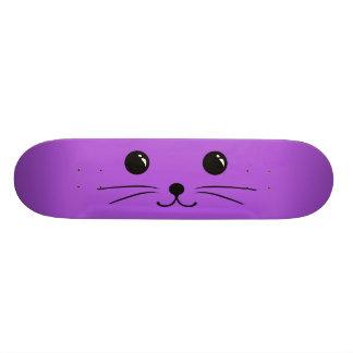 Purple Mouse Cute Animal Face Design Skateboard