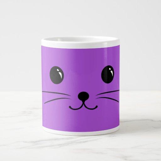 Purple Mouse Cute Animal Face Design Extra Large Mug