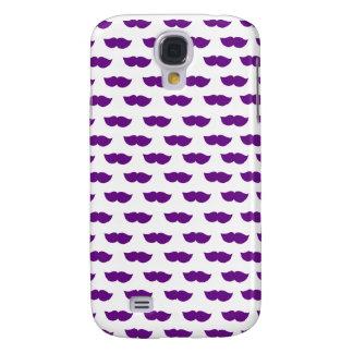 Purple Moustaches Galaxy S4 Case