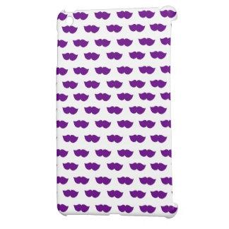 Purple Moustaches Cover For The iPad Mini