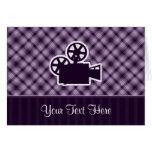Purple Movie Camera Cards
