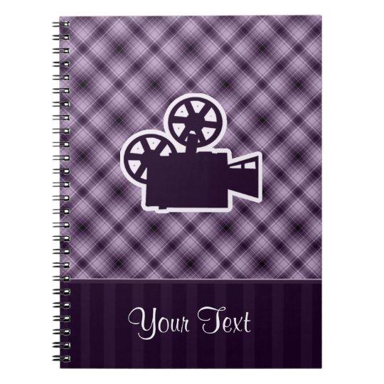 Purple Movie Camera Notebook