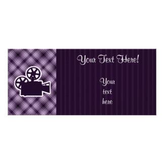 Purple Movie Camera Rack Card Template