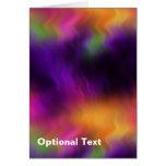 Purple Multi Blurred Haze Greeting Card