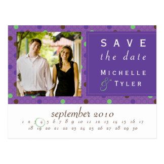 Purple Multi Circle Save the Date Card