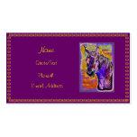 Purple Multi-Colored Horse Business/Profile Card Business Card Template