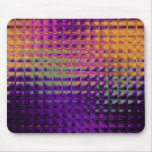 Purple Multi Glass Tile Squares Mouse Pad