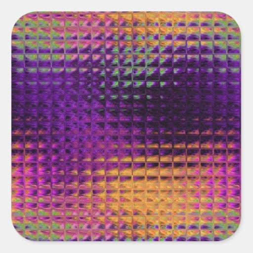 Purple Multi Glass Tile Squares Square Sticker