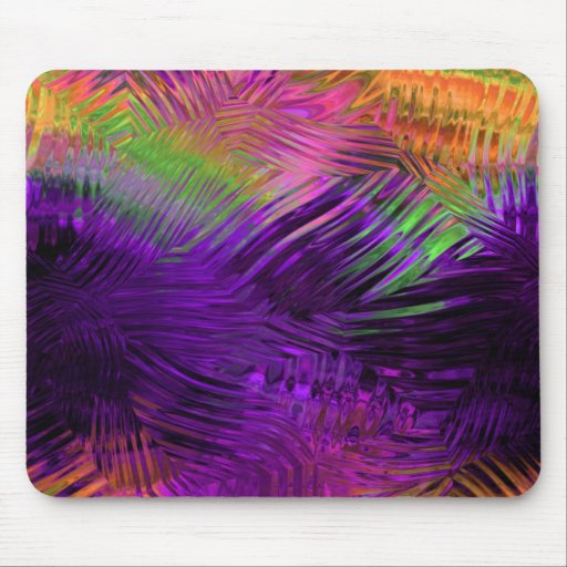 Purple Multi Rippled Glass Mouse Pad