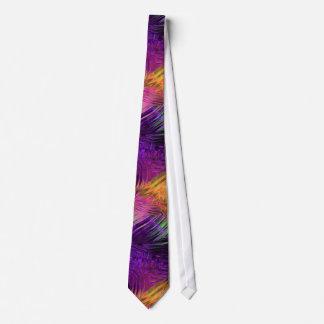 Purple Multi Rippled Glass Neck Tie